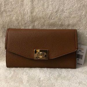 Michael Kors brown trifold wallet